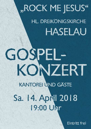Gospelkonzert in Haselau am 14 April 2018